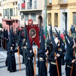 Nazarenos en procesión
