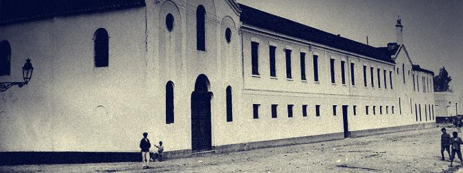 Fachada del colegio San Bartolomé y el Santuario de María Auxiliadora